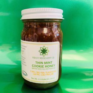 Jar of Rocky Ridge Hemp Co. CBD-Infused Thin Mint Honey